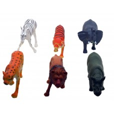 Hang Shuntoys Wild Animals Plastic Toys For Kids (6 Pcs. Pack)