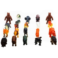 Hang Shuntoys Wild Animals Plastic Toys For Kids (20 Pcs. Pack)