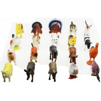 Hang Shuntoys Farm Animals Plastic Toys for Kids (20 Pcs. Pack)