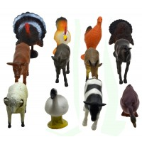 Hang Shuntoys Farm Animals Plastic Toys for Kids (12 Pcs. Pack)