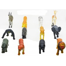 Hang Shuntoys Wild Animals Plastic Toys For Kids (12 Pcs. Pack)