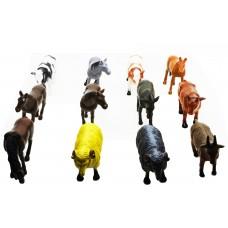 Hang Shuntoys Farm Animals Plastic Toys for Kids (12 Pcs. Pack)