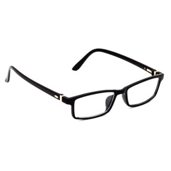 Hrinkar Rectangle Square Full Rim Spectacle with Blue Cut Lens for Men and Women (Black) - extra -1