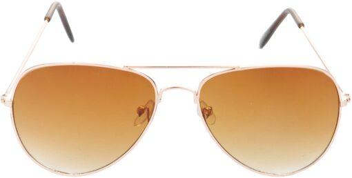 Air Strike Brown Lens Gold Frame Pilot Stylish Sunglasses For Men Women Boys Girls - extra 1