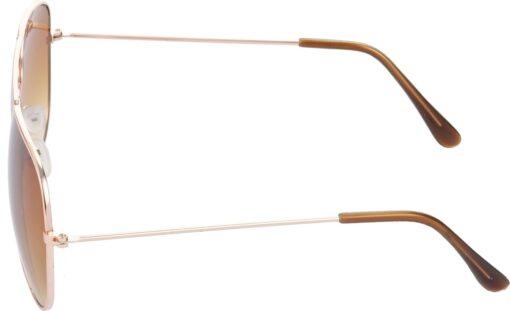Air Strike Brown Lens Gold Frame Pilot Stylish Sunglasses For Men Women Boys Girls - extra 3