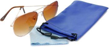Air Strike Brown Lens Gold Frame Pilot Stylish Sunglasses For Men Women Boys Girls - extra 4