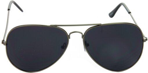 Air Strike Black Lens Grey Frame Pilot Stylish Sunglasses For Men Women Boys Girls - extra 1