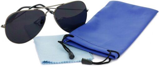 Air Strike Black Lens Grey Frame Pilot Stylish Sunglasses For Men Women Boys Girls - extra 4