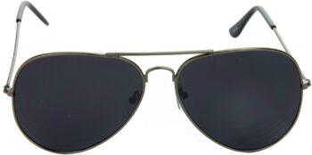 Air Strike Black Lens Grey Frame Pilot Stylish For Sunglasses Men Women Boys Girls - extra 1