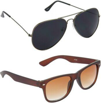 Air Strike Black Lens Grey Frame Pilot Stylish For Sunglasses Men Women Boys Girls