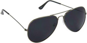 Air Strike Black Lens Grey Frame Pilot Stylish Sunglasses For Men Women Boys Girls - extra