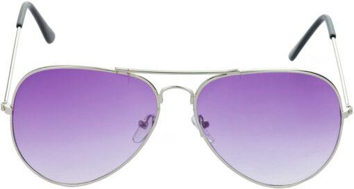 Air Strike Violet Lens Silver Frame Pilot Stylish For Sunglasses Men Women Boys Girls - extra 1
