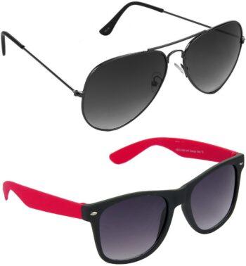 Air Strike Grey Lens Grey Frame Pilot Stylish Sunglasses For Men Women Boys Girls