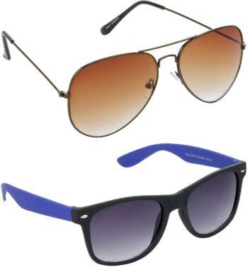 Air Strike Grey Lens Brown Frame Pilot Stylish For Sunglasses Men Women Boys Girls