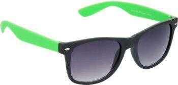Air Strike Grey Lens Black Frame Rectangular Stylish Sunglasses For Men Women Boys Girls - extra