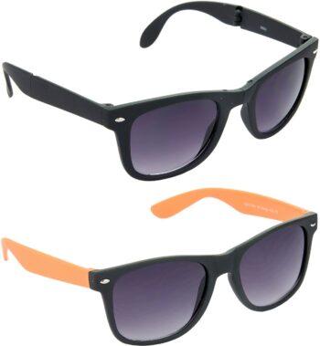 Air Strike Grey Lens Black Frame Rectangular Stylish For Sunglasses Men Women Boys Girls