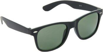Air Strike Green Lens Black Frame Rectangular Stylish For Sunglasses Men Women Boys Girls - extra