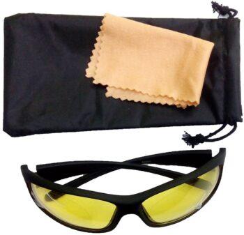 Air Strike Yellow Lens Black Frame Sports Sunglass Stylish For Sunglasses Men Women Boys Girls - extra 4