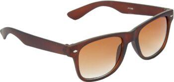 Air Strike Brown Lens Brown Frame Rectangular Stylish Sunglasses For Men Women Boys Girls - extra
