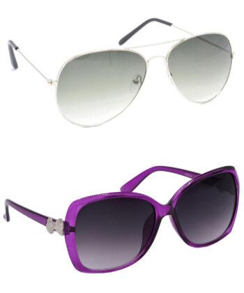 Air Strike Green & Grey Lens Silver & Grey Frame Latest Goggles For Men Women Boys & Girls - HCMBO1214