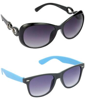 Air Strike Grey Lens Black & Blue Frame Best Goggles For Men & Boys - HCMBO1686