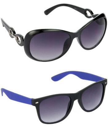 Air Strike Grey Lens Black & Blue Frame New Goggles For Men & Boys - HCMBO1693