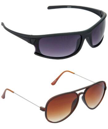 Air Strike Brown Lens Brown Frame Sunglasses Styles For Men & Boys - HCMBO1803