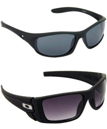 Air Strike Grey & Blue Lens Black Frame Safety Goggles For Men & Boys - HCMBO1950