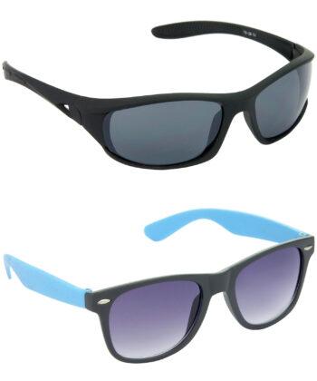 Air Strike Grey Lens Black & Blue Frame Sunglasses Styles For Men & Boys - HCMBO2058