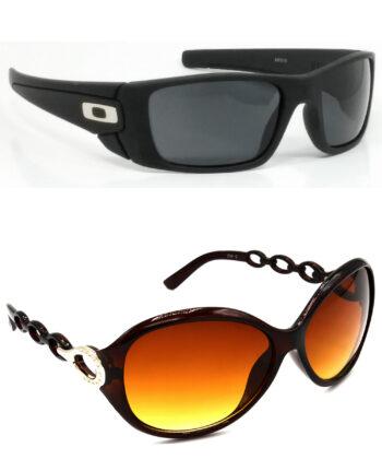 Air Strike Black & Brown Lens Black & Brown Frame Latest Sunglasses For Men Women Boys & Girls - HCMBO2320