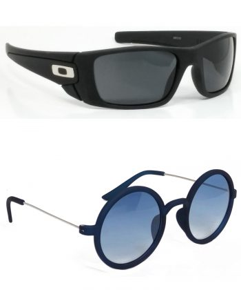 Air Strike Black & Blue Lens Black & Blue Frame New Sunglasses For Men Women Boys & Girls - HCMBO2323