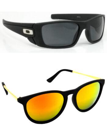 Air Strike Black & Golden Lens Black & Golden Frame New Goggles For Men Women Boys & Girls - HCMBO2339