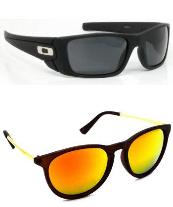 Air Strike Black & Golden Lens Black & Golden Frame New Sunglasses For Men Women Boys & Girls - HCMBO2340