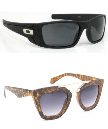 Air Strike Black & Clear Lens Black & Golden Frame New Goggles For Men Women Boys & Girls - HCMBO2356