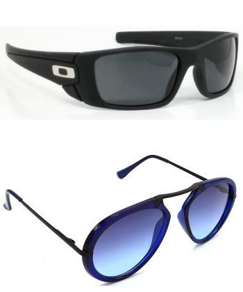 Air Strike Black & Clear Lens Black & Brown Frame Best Sunglasses For Men Women Boys & Girls - HCMBO2367