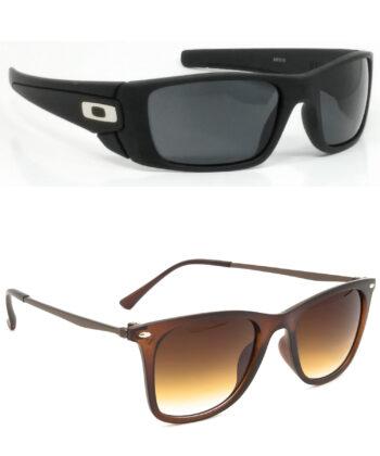 Air Strike Black & Golden Lens Black & Brown Frame Sunglasses Styles For Men Women Boys & Girls - HCMBO2398