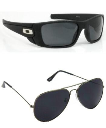 Air Strike Black & Green Lens Black & Golden Frame Latest Sunglasses For Men & Boys - HCMBO2405