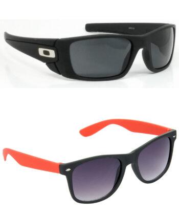 Air Strike Black & Brown Lens Black & Brown Frame Fashion Goggles For Men & Boys - HCMBO2419