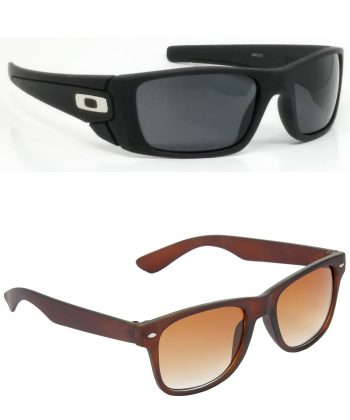 Air Strike Black & Green Lens Black & Grey Frame UV Protection Sunglasses For Men & Boys - HCMBO2420