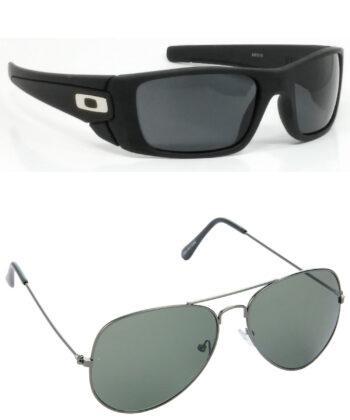 Air Strike Black & Grey Lens Black & Blue Frame Latest Goggles For Men & Boys - HCMBO2421