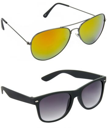 Air Strike Yellow & Grey Lens Grey & Black Frame New Sunglasses For Men & Boys - HCMBO2765