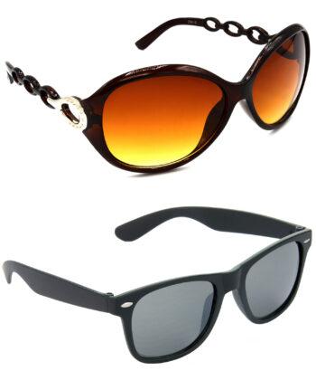 Air Strike Brown & Black Lens Brown & Black Frame Safety Goggles For Men Women Boys & Girls - HCMBO3123