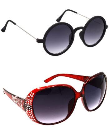 Air Strike Grey Lens Silver Frame UV Protection Glasses For Men Women Boys & Girls - HCMBO3164