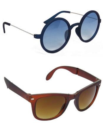 Air Strike Blue & Brown Lens Blue & Brown Frame New Goggles For Men Women Boys & Girls - HCMBO3444