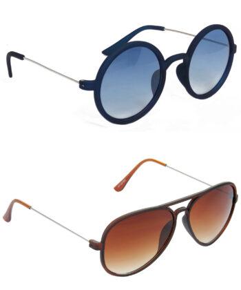 Air Strike Blue & Brown Lens Blue & Brown Frame Stylish Goggles For Men Women Boys & Girls - HCMBO3448