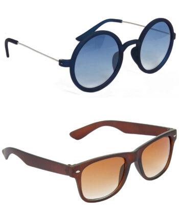 Air Strike Blue & Brown Lens Blue & Brown Frame Best Goggles For Men Women Boys & Girls - HCMBO3454
