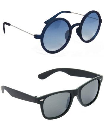Air Strike Blue & Black Lens Blue & Black Frame Latest Sunglasses For Men Women Boys & Girls - HCMBO3459