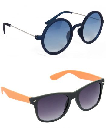 Air Strike Blue & Brown Lens Blue & Brown Frame New Goggle For Men Women Boys & Girls - HCMBO3460