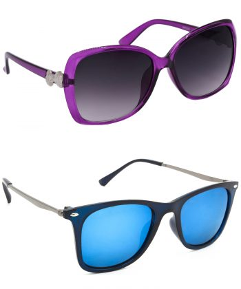 Air Strike Grey & Silver Lens Grey & Golden Frame Stylish Goggles For Men Women Boys & Girls - HCMBO4179