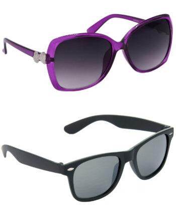 Air Strike Grey & Black Lens Grey & Black Frame New Goggle For Men Women Boys & Girls - HCMBO4208